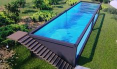 You can plan a swimming pool in any kind of dimension, form, design, or type. These dreamy swimming pool design ideas will transform your yard right into an outside oasis. Shipping Container Swimming Pool, Swimming Pool House, Swiming Pool, Natural Swimming Pools, Swimming Pool Designs, Natural Pools, Kleiner Pool Design, Small Pool Design, Small Backyard Pools