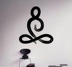 Symbool van Yoga Pose Vinyl Decal Yoga Studio muur Sticker Decor woonkamer muur muurschilderingen Housewares 16(yga)