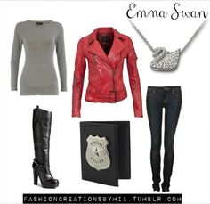 Que Chic: Looks inspirados em OUAT  I. Need. Jacket. And. Necklace.  GIVE THEM TO ME!