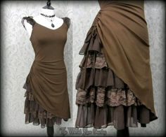Steampunk Romantic Lacey Brown Bustle Effect Hitched Dress 14 Victorian Goth in Clothes, Shoes & Accessories, Women's Clothing, Dresses Mode Steampunk, Steampunk Costume, Victorian Steampunk, Steampunk Clothing, Steampunk Fashion, Steampunk Dress, Goth Costume, Steampunk Outfits, Renaissance Clothing