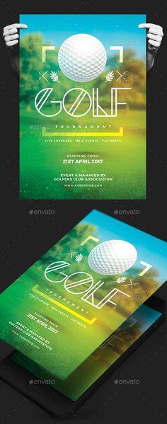 Golf Tournament Flyer Template PSD Flyer Templates Pinterest