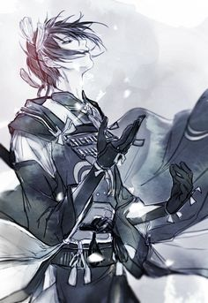** Permission to post it was granted by the artist Please don't remove credits & don't repost/edit the art ** Artist : 인 Source 1 - 2 - 3 Hot Anime Boy, I Love Anime, Anime Guys, Manga Boy, Manga Anime, Anime Art, Touken Ranbu Characters, Anime Characters, Touken Ranbu Mikazuki