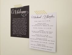 Wedding Welcome Bag Cards, Weekend Itinerary Notes & Stickers. $150.00, via Etsy.