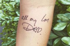 Dad tattoos: 17 ideas for tattoos to honour your father - goodtoknow Father's Day comes just once year, but these dad-inspired tattoo designs are a gift to dad that will last forever. Tattoo Designs For Women, Tattoos For Women, Tattoos For Guys, Trendy Tattoos, Small Tattoos, Cool Tattoos, Tatoos, Neue Tattoos, Bild Tattoos