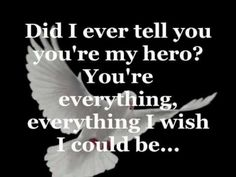 Mom, you will always be the wind beneath my wings! I love you so much and miss you terribly