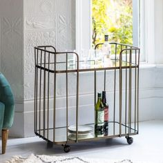 Verona Bronze Drinks Trolley