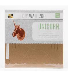 DCWV DIY Wall Zoo: Unicorn Online Craft Store, Craft Stores, Sliceform, Joann Fabrics, Diy Wall, Fabric Crafts, Unicorn, Scrapbook, Sculpture