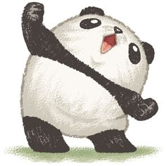 Happy panda by Toru Sanogawa, via Behance