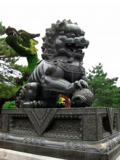 Chinese guardian lion, known as Shishi or Imperial guardian lion, and often called Foo Dogs in the West