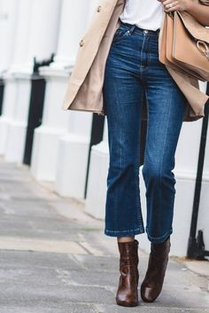 Cropped Kick flare jeans!