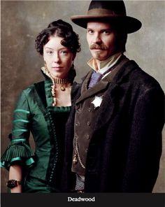 Deadwood. Molly Parker as Alma Garret Timothy Olyphant as Seth Bullock