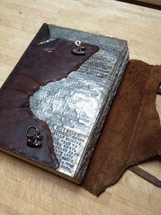 Tracy's awesome metal journal... Sandra Kaye: Art Romp Part 3