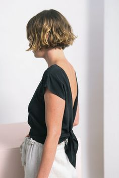 Elizabeth Suzann Tie Back Reversible Top