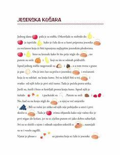 Jesenska košara Creative Activities For Kids, Autumn Activities For Kids, Fall Preschool, Autism Teaching, Preschool Education, Preschool Learning Activities, Speech Language Therapy, Speech And Language, Croatian Language