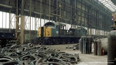 01/08/1982 - Crewe (ZC) Works, Cheshire. | by 53A Models Diesel Locomotive, Steam Locomotive, Train Room, Railroad History, Abandoned Train, British Rail, Old Trains, Top Gear, Whistler