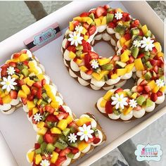 YES OR NO??  Number cake version healthy by @meital_michaeli  This cake is so beautiful!!!!  the trending cake version healthy, i love it!  a good idea for a birthday cake  #strawberry #strawberries #fruit #fruits #kiwi #manguo #healthy #white #19 #flowers #cake #cakes #cakeart #cakedesign #rose #food #foodporn #amourducake #birthdaycake #pastry #patisserie #photooftheday #yes #no #healthyfood