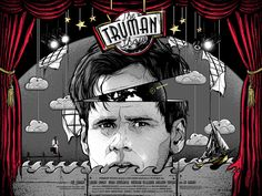 Truman Show cool movie art found on tumbler 1998 movie - movie poster