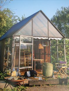 greenhouse as a hang out spot.