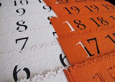 Identificadores de Mesa/Table Numbers  Design by: Yil Siritt