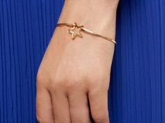 Gold Star Bangle by Kris Nations, LOVE this!