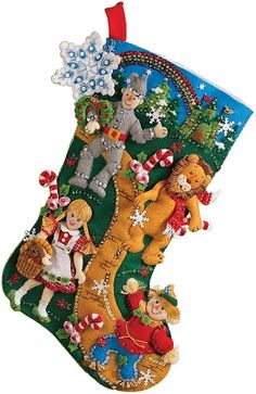 Christmas In Oz Stocking Felt Applique Kit