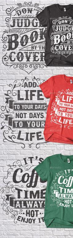 3 Typography T-shirt Vector EPS, AI #design Donload: http://graphicriver.net/item/3-typography-tshirt-design-vol2/13887174?ref=ksioks