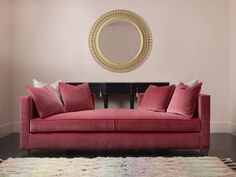 cynthia rowley for hooker furniture curious daybed pretty shaped console and round mirror Hooker Furniture, New Furniture, Cynthia Rowley, High Point Furniture, High Point Market, Popular Colors, Art Of Living, Living Rooms, Mid Century Style