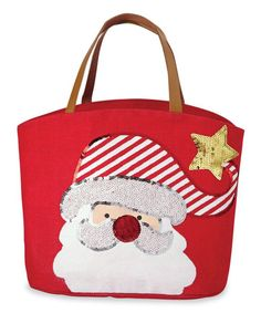 How cute is this sparkly reindeer tote by Mud Pie! Made of jute with faux leather handles, it features a reindeer made of festive sequins. The tote measures x Santa Face, Santa And Reindeer, Jute Tote Bags, Reusable Tote Bags, Coupon, Best Luggage, Christmas Bags, Merry Christmas, Large Purses