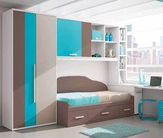 Ref.-644-31 Room Door Design, Bedroom Bed Design, Kids Room Design, Kids Bedroom Furniture, Room Ideas Bedroom, Space Interiors, Bedroom Wardrobe, Bedroom Storage, Girl Room
