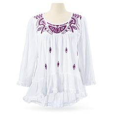 Mayan Embroidered Top - Women's Clothing & Symbolic Jewelry – Sexy, Fantasy, Romantic Fashions from The Pyramid Collection. Saved to Pyramid Collection.