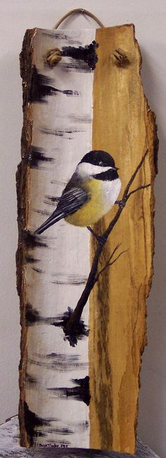 "Nature Art Blessings ideas~""Hattie's Nature Crafts""~~ Artwork by Suzie Thaller Tole Painting, Painting On Wood, Painting & Drawing, Wood Paintings, Wood Artwork, Drawing Drawing, Decorative Paintings, Pintura Tole, Pallet Art"