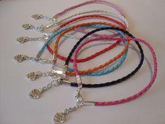 braided leather anklet/ankle bracelet hippy boho festival funky heart lovebeach