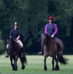 Quality time: Prince Edward, and Lady Louise, were seen horse riding on Sunday Prince Edward, Prince Philip, Prince Of Wales, Prince Charles, Lady Louise Windsor, House Of Windsor, Louise Mountbatten, Viscount Severn, Camilla Parker Bowles
