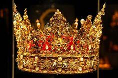Christian 4.s kongekrone. Christian blev nødt til at pantsætte den i sine sidste leveår, da han havde brugt alle rigets penge - bl.a. på krig mod Sverige.