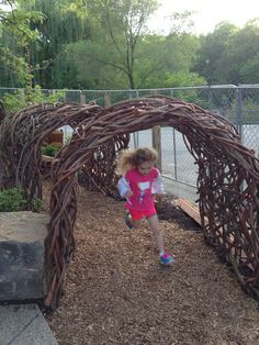 """Bird thicket"" at the Cleveland Zoo Preschool Garden, Sensory Garden, Outdoor Education, Outdoor Learning, Outdoor Play Spaces, Outdoor Fun, Cleveland Zoo, Outdoor Play Equipment, Outdoor Classroom"
