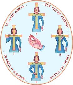 Illustration of making the sign of the cross - Translate into English Sign Of The Cross, Prayer For Family, Sunday School Activities, Byzantine Icons, Orthodox Christianity, Catechism, Spiritual Life, Life Is Beautiful, Saints