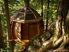 This Hemloft was made using reclaimed materials, some of which came from Craigslist. Like all unique shelters this treehouse, by carpenter Joel Allen, was a labour of love. More treehouses at www.naturalhomes.org/treehouses.htm