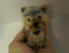 Needle felted Yorkshire Terrier by JuliePavittRobinson on Etsy