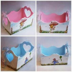 Painting On Wood, Wood Art, Ideas Para, Toy Chest, Painted Furniture, Panda, Baby Shower, Storage, Vintage