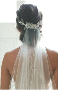 20 Wedding Hairstyles for Long Hair With Veils - Oh The Wedding Day Is Coming Diy Wedding Hair, Long Hair Wedding Styles, Wedding Hair Down, Wedding Hairstyles For Long Hair, Wedding Hair Pieces, Short Hair Styles, Wedding Veils, Veil Hairstyles, Elegant Hairstyles