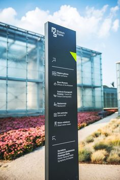 Complete wayfinding system & environmental graphics in Silesian Museum in Katowice Directional Signage, Wayfinding Signs, Outdoor Signage, Environmental Graphic Design, Environmental Graphics, Wc Sign, Navigation Design, Monument Signs, Sign System