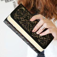 PU leather wallet / women wallet /womens purse / clutch bag /long wallet/womens wallets/womens wallet/women wallets on Etsy, $18.90