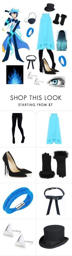 """will cipher"" by winternightfrostbite ❤ liked on Polyvore featuring Badgley Mischka, Jimmy Choo, UGG Australia, Swarovski, Valfré, Overland Sheepskin Co., women's clothing, women's fashion, women and female"