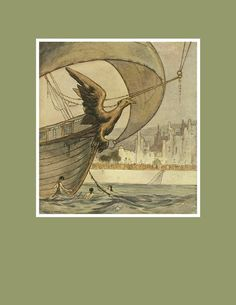 Illustrations by William Timlin from The Ship That Sailed to Mars by John Howe