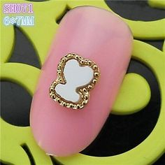 QINF 10PCS SH071 Sweet Heart Design Cute 3D Alloy nail art DIY Nail beauty Nail Decoration Nail Salon >>> Click on the image for additional details.