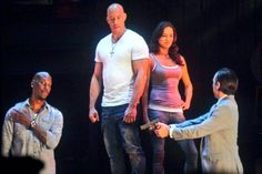 Wow! Vin Diesel, Tyrese Gibson and Michelle Rodriguez in 3D!