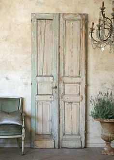 Wall Decor-weathered door