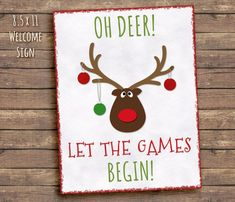 Welcome Sign Reindee