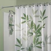 "InterDesign Leaves Shower Curtain, Green, 72"" x 72"""