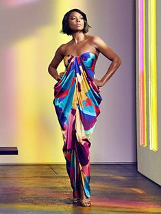 3056f0cefb5a Shop Multicolor Strapless Maxi Dress - Gabrielle Union Collection. Find  your perfect size online at. New York & Company